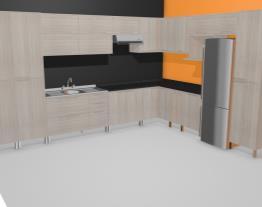 Cozinha Modulada Completa com 19 Módulos Solaris Carvalle/Preto - Kappesberg
