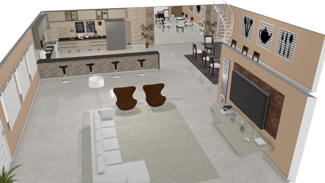 Sala americana (Casa moderna)