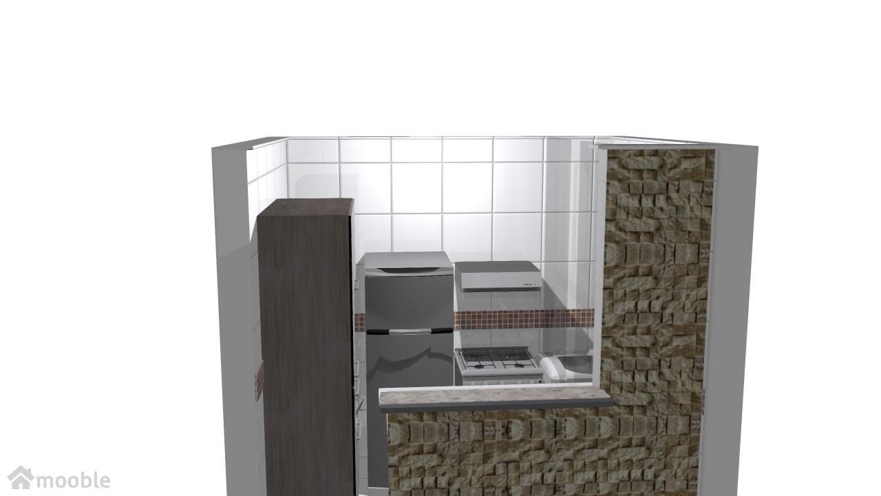 cozinha apartamento com armario simples