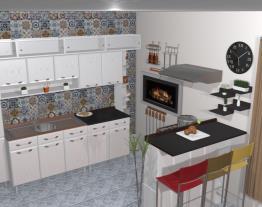 Cozinha onde era garagem (medidas, e alguns empecilhos, reais )