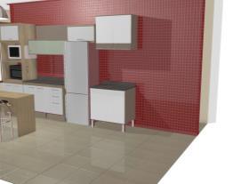 Cozinha Modulada Completa 7 Módulos Ilhabela Carvalho Dover/Branco/Trufa Trama - Gralar