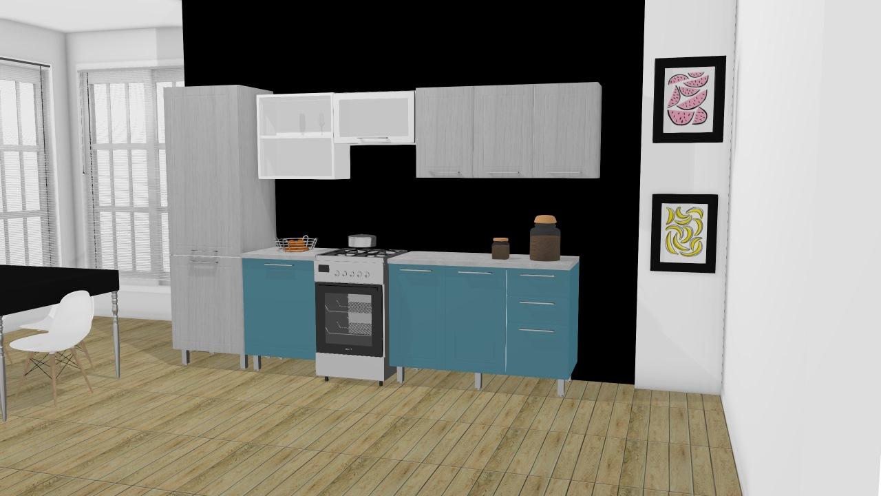 Cozinha Modulada Em A O Completa 6 M Dulos Play Madeirado Sal Azul