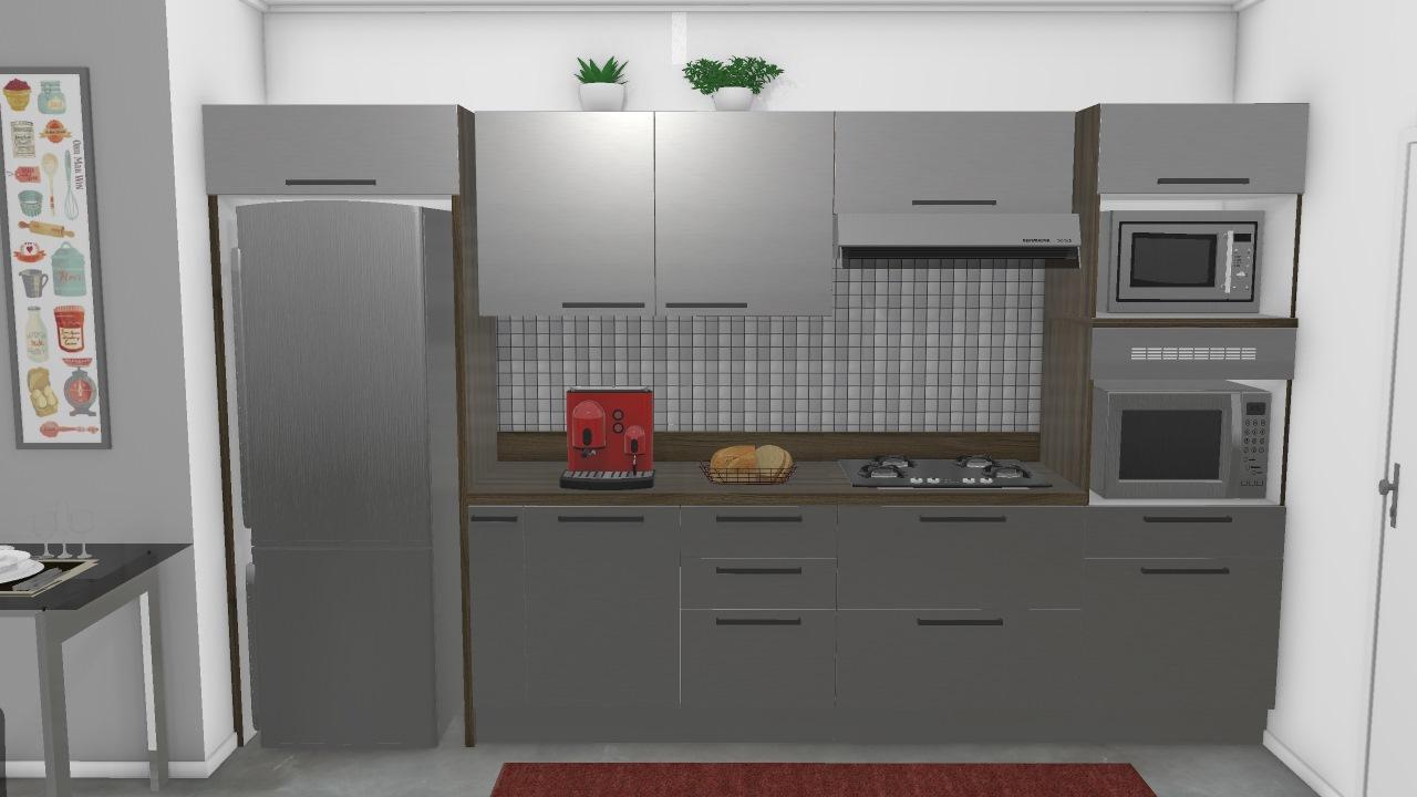 Cozinha Gourmet G3 Inox De Fabiana Planta 3d Mooble Itatiaia