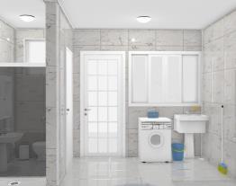 Área de serviço + Banheiro de Empregada Alessandro & Cida