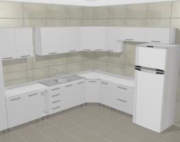 Cozinha Modulada Completa 15 Módulos Faces Branco - Morata