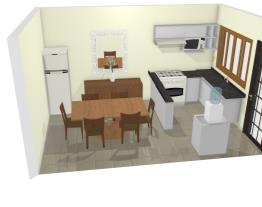 Cozinha L  geladeira sala de jantar2