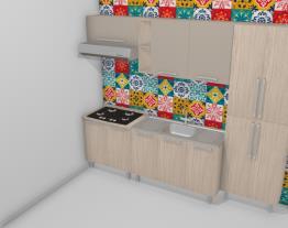 Cozinha Modulada Completa com 5 Módulos Smart Fendi/Cristal - Henn