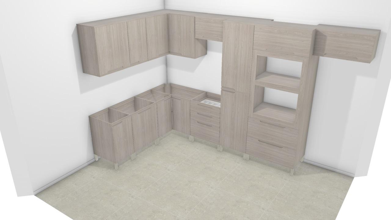 Cozinha Completa Solaris De Beatriz Planta 3d Mooble Kappesberg