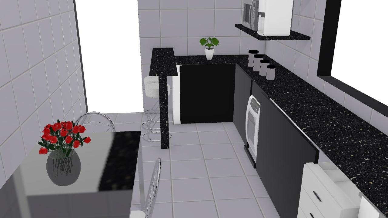 Arm Rio De Alvenaria Cozinha Completa De Debora Planta 3d Mooble