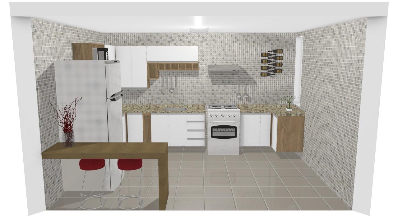 Cozinha Italinea Lisiane De Lisiane Planta 3d Mooble