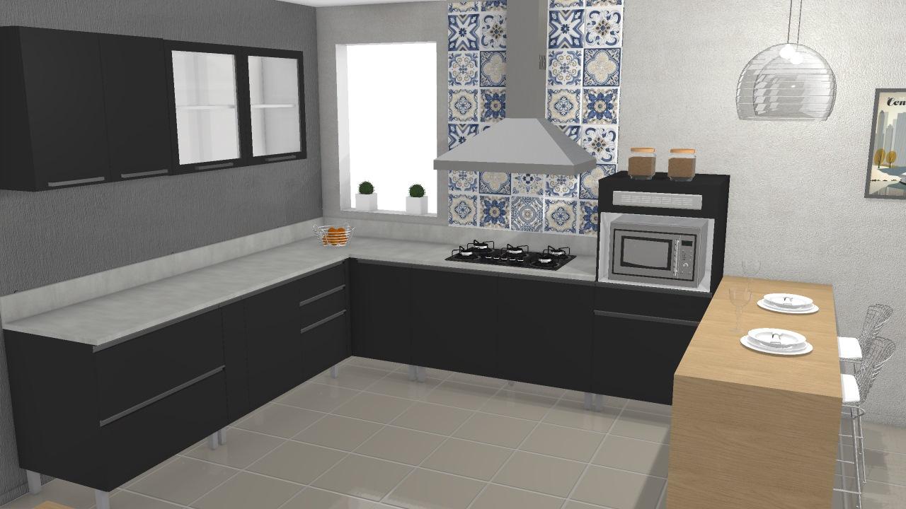 Cozinha Gourmet 01 Chumbo De Itatiaia Planta 3d Mooble Itatiaia