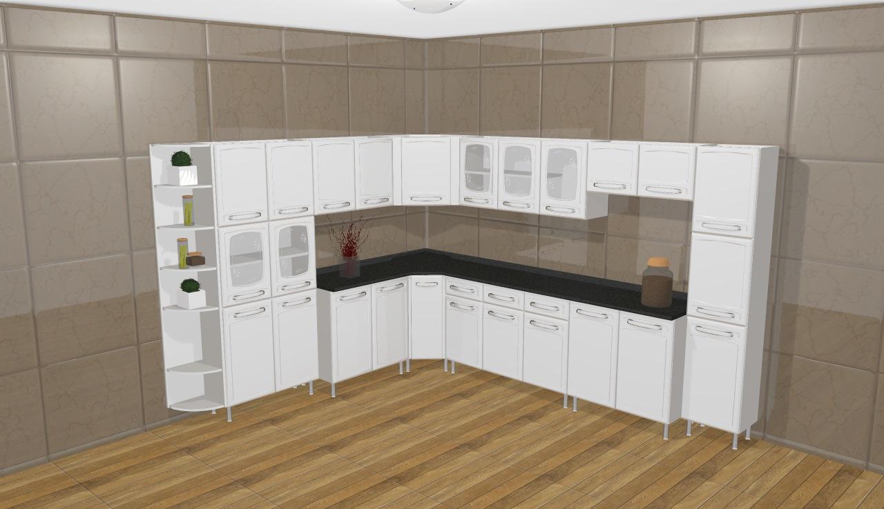 Cozinha Modulada Completa 11 M Dulos Evidence Em A O Branco