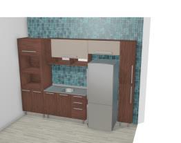 Cozinha Modulada Completa com Armário aéreo 1 Porta Basculante com Nichos Smart Turin/Cristal - Henn