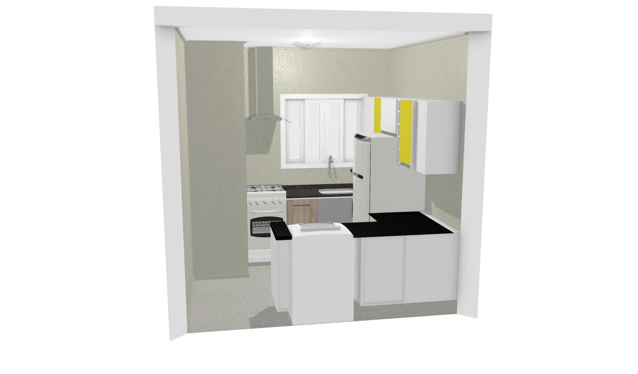 Cozinha Compacta Madesa De Ruth Planta 3d Mooble Leroy Merlin