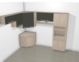 Cozinha Modulada Completa com 9 Módulos Smart Fendi/Cristal - Henn