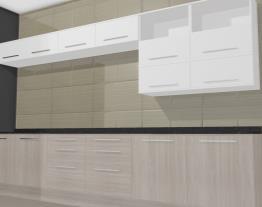 Cozinha Modulada Completa Unique com 14 Módulos Carvalle/Branco - Kappesberg