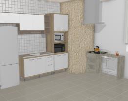 Cozinha Modulada Completa 6 Módulos Ilhabela Carvalho Dover/Branco - Gralar