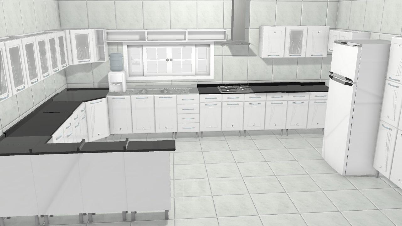 1501 Cozinha Telasul Star Planta 3d Mooble