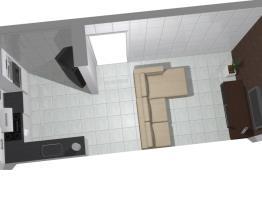 Cozinha conjugada Normal com parede