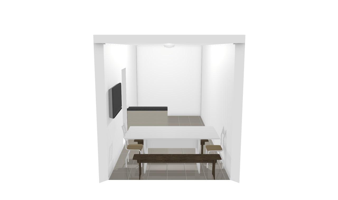 Sala e cozinha