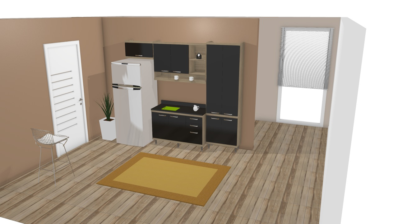 Cozinha Modulada Completa 4 M Dulos Sic Lia Argila Preto