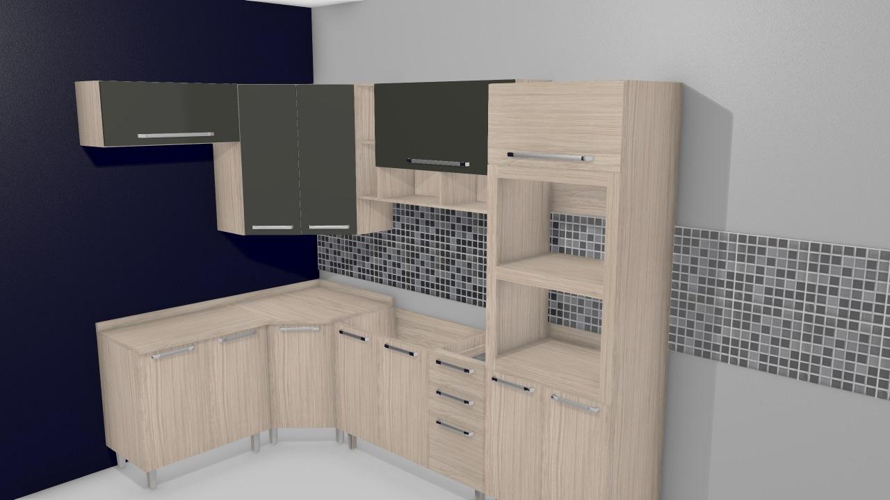 Cozinha Modulada Completa Com 7 M Dulos Smart Fendi Amarula Henn