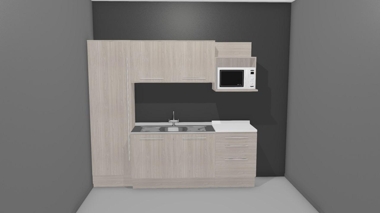 Cozinha Modulada Unique Branco Kappesberg De Henrique Planta 3d