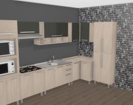 Cozinha Modulada Completa com 8 Módulos Smart Fendi/Cristal - Henn