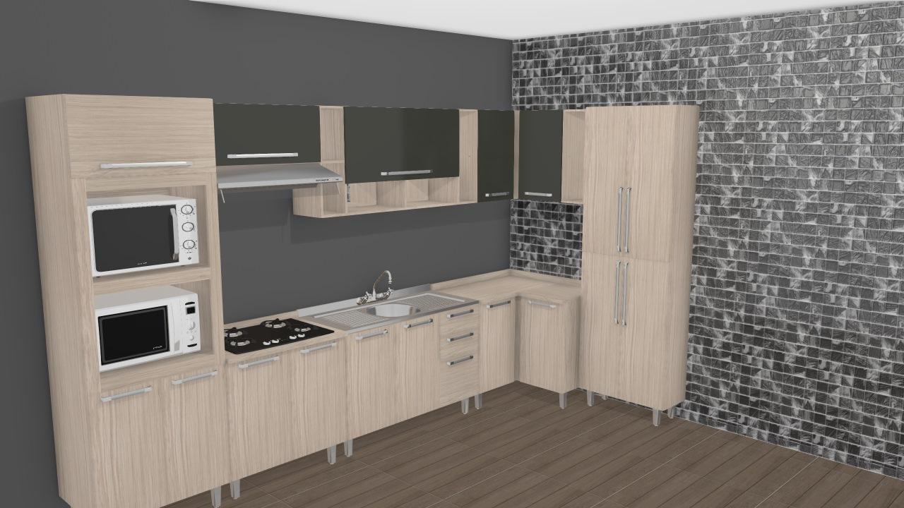 Cozinha Modulada Completa Com 8 M Dulos Smart Fendi Cristal Henn