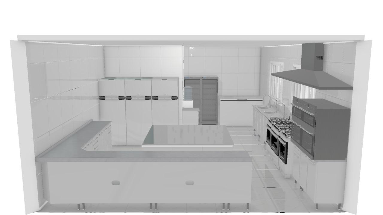Cozinha Industrial 96 De User Planta 3d Mooble