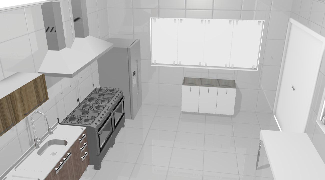 Cozinha Industrial De Fernando Planta 3d Mooble