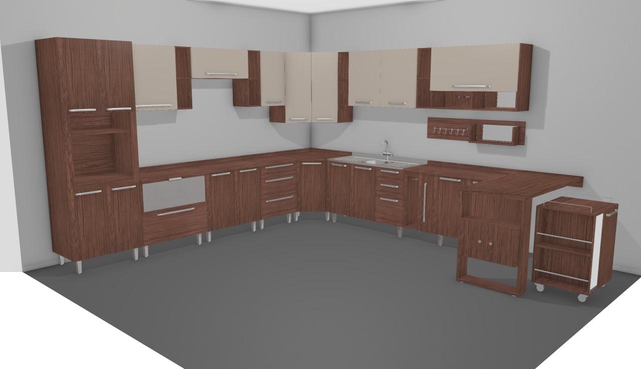Cozinha Modulada Completa Com 20 M Dulos Smart De Henrique Planta