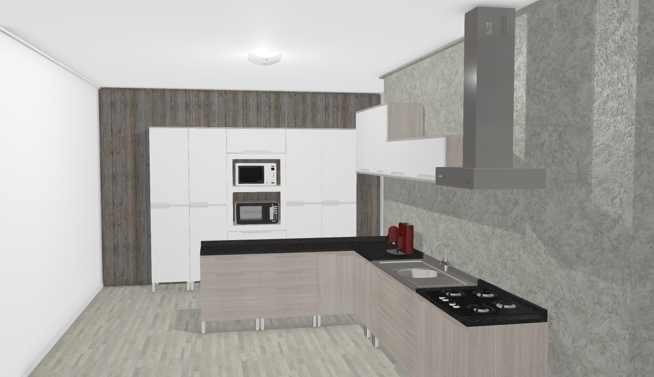 Cozinha Modulada Completa Suspensa Com 15 M Dulos Solaris 100 Mdf