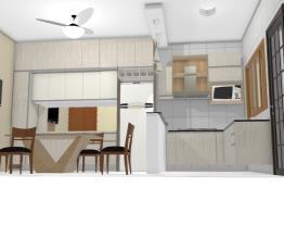 Cozinha L  armário e geladeira sala jantar 5 bRANCO