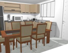 Cozinha 3,41 por 3,50 com mesa