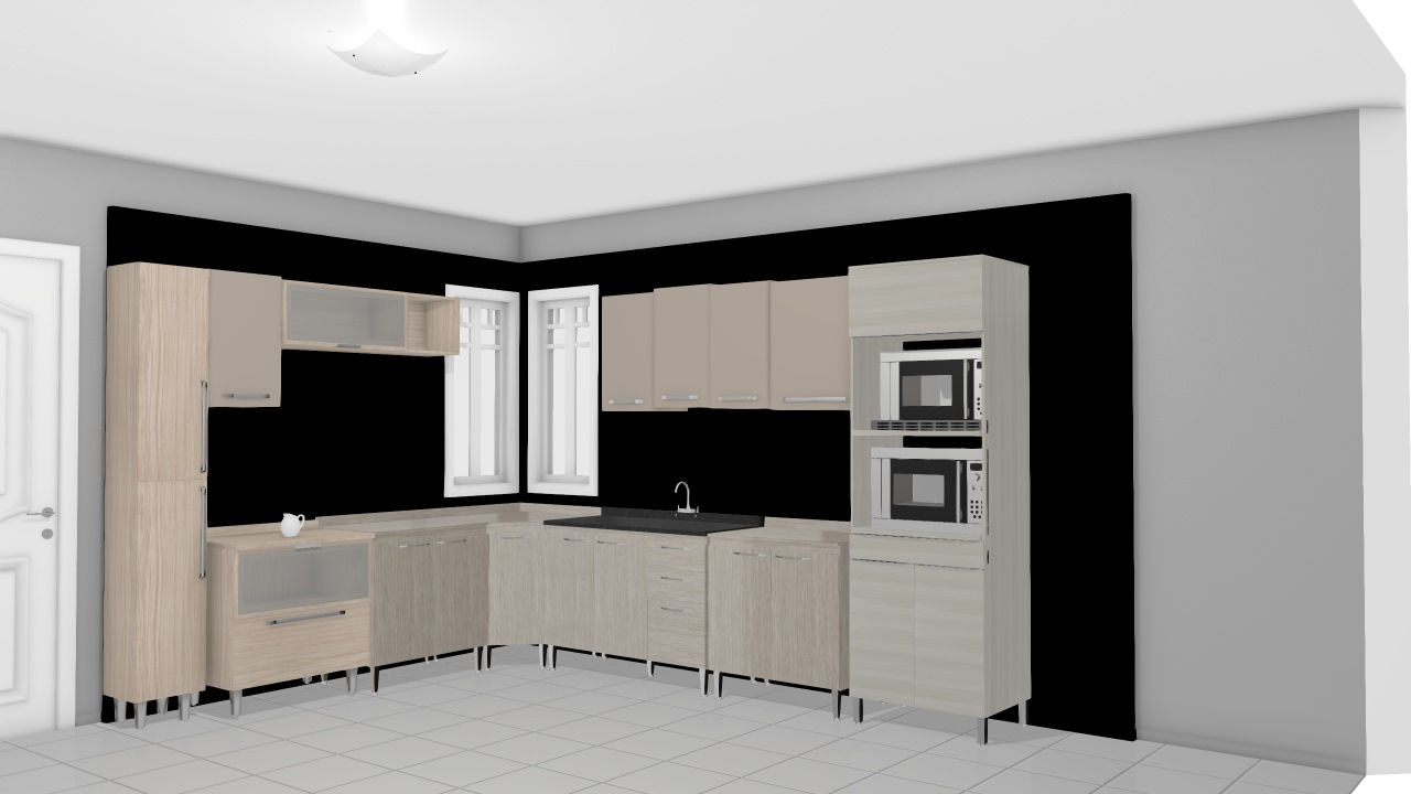 Cozinha Modulada Completa Com 16 M Dulos Smart Fendi Cristal Henn