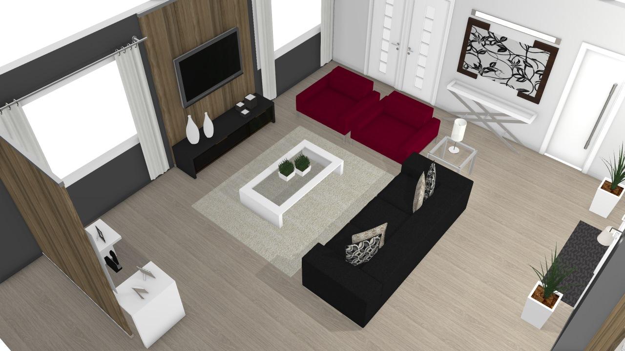 Projeto Sala E Cozinha De Ana Planta 3d Mooble