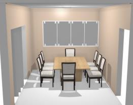 sala de jantar simples