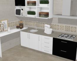 Cozinha Marselha Preta e Branca