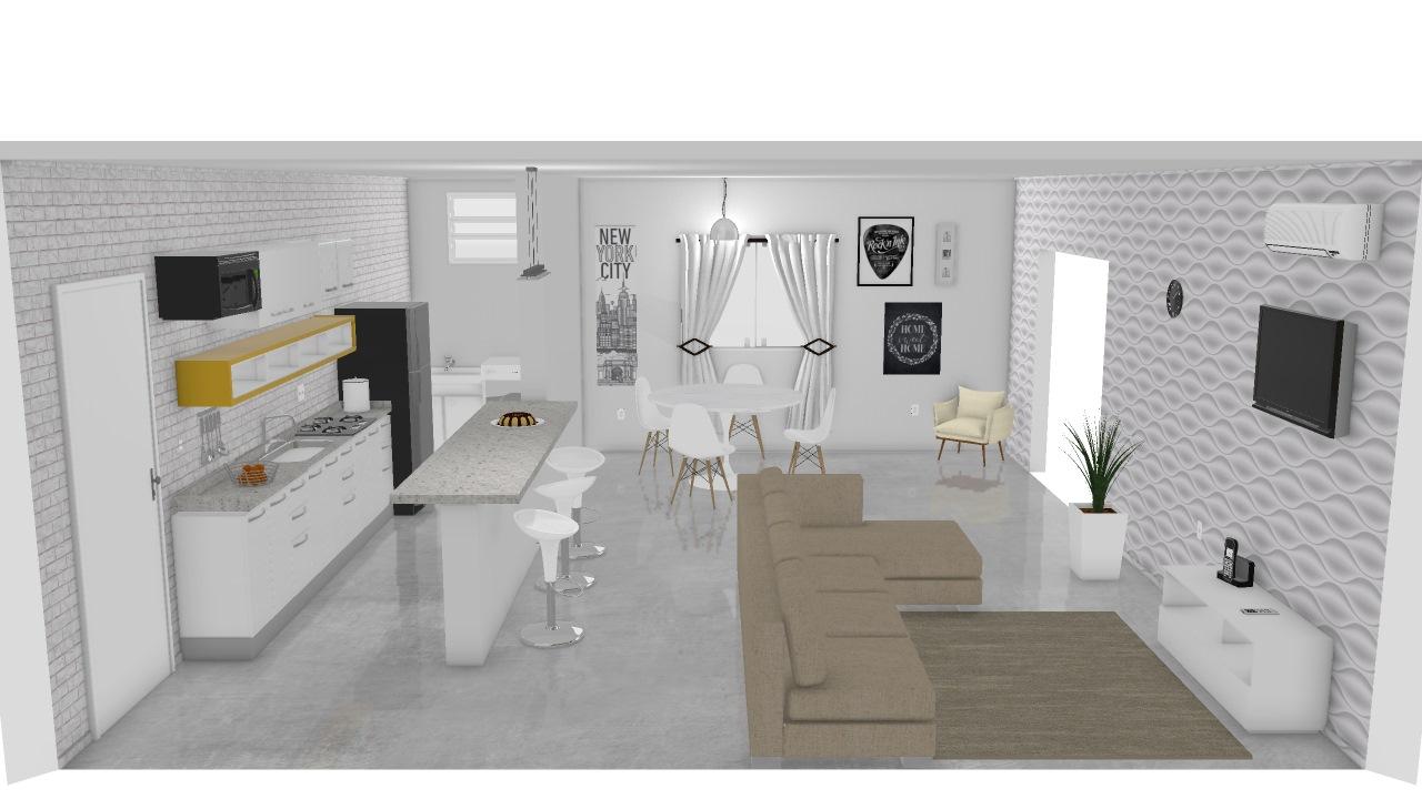 Apartamento Escandinavo De Etiene Planta 3d Mooble