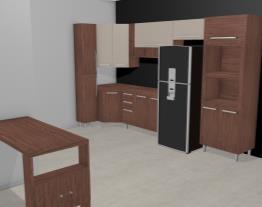 Cozinha Americana Modulada com 9 Módulos Smart Turin/Cristal - Henn