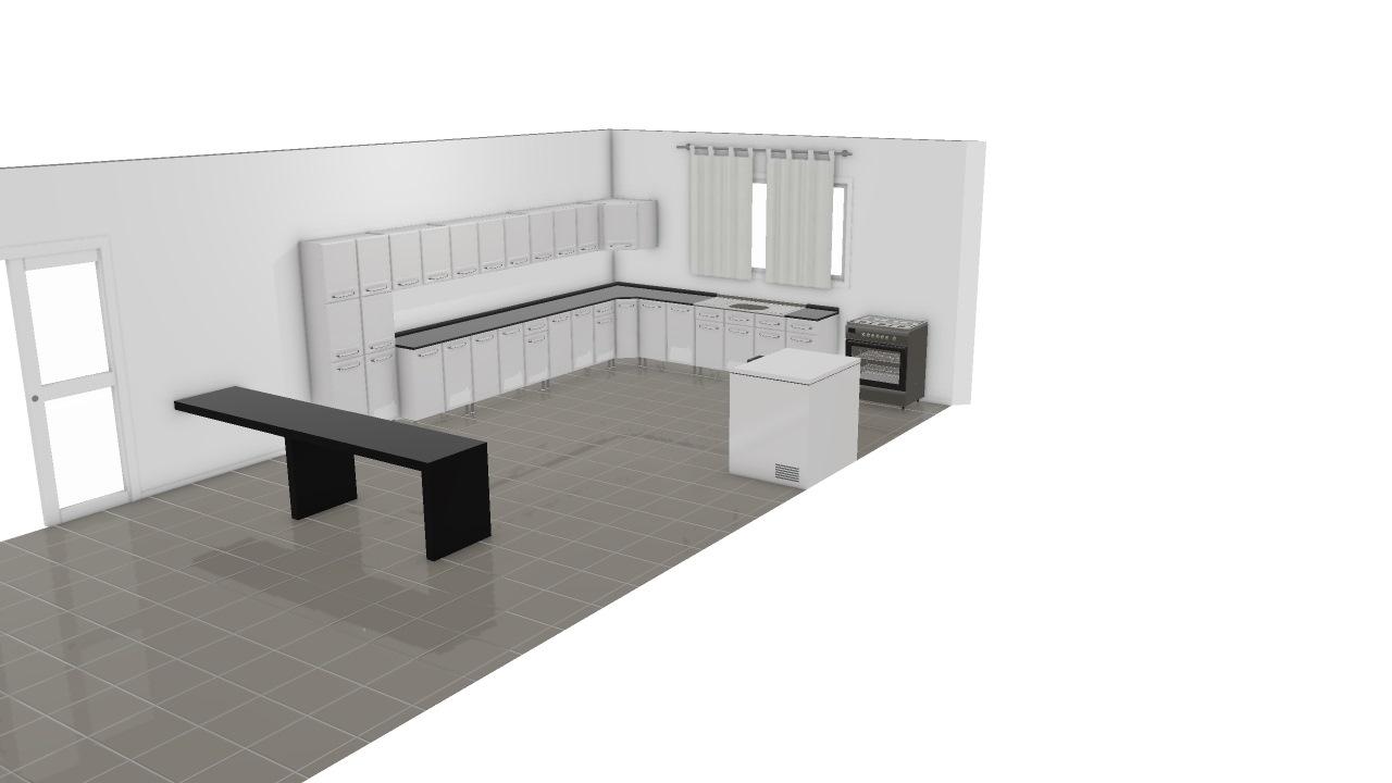 Cozinha Refeitorio De M Veis Planta 3d Mooble Bertolini