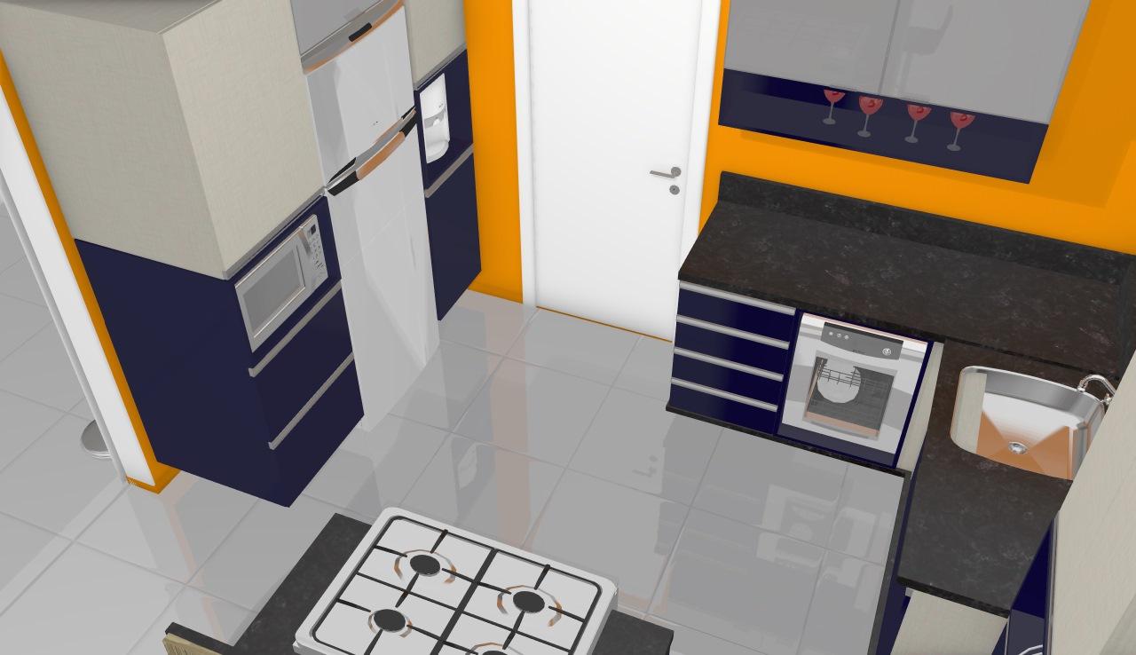 só cozinha bella colina 8 azul