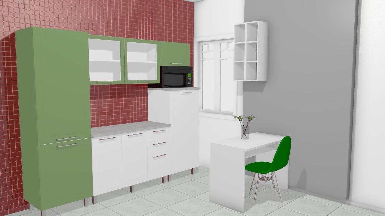 Cozinha Modulada Em A O Completa 5 M Dulos Play Branco Sal Verde Ch