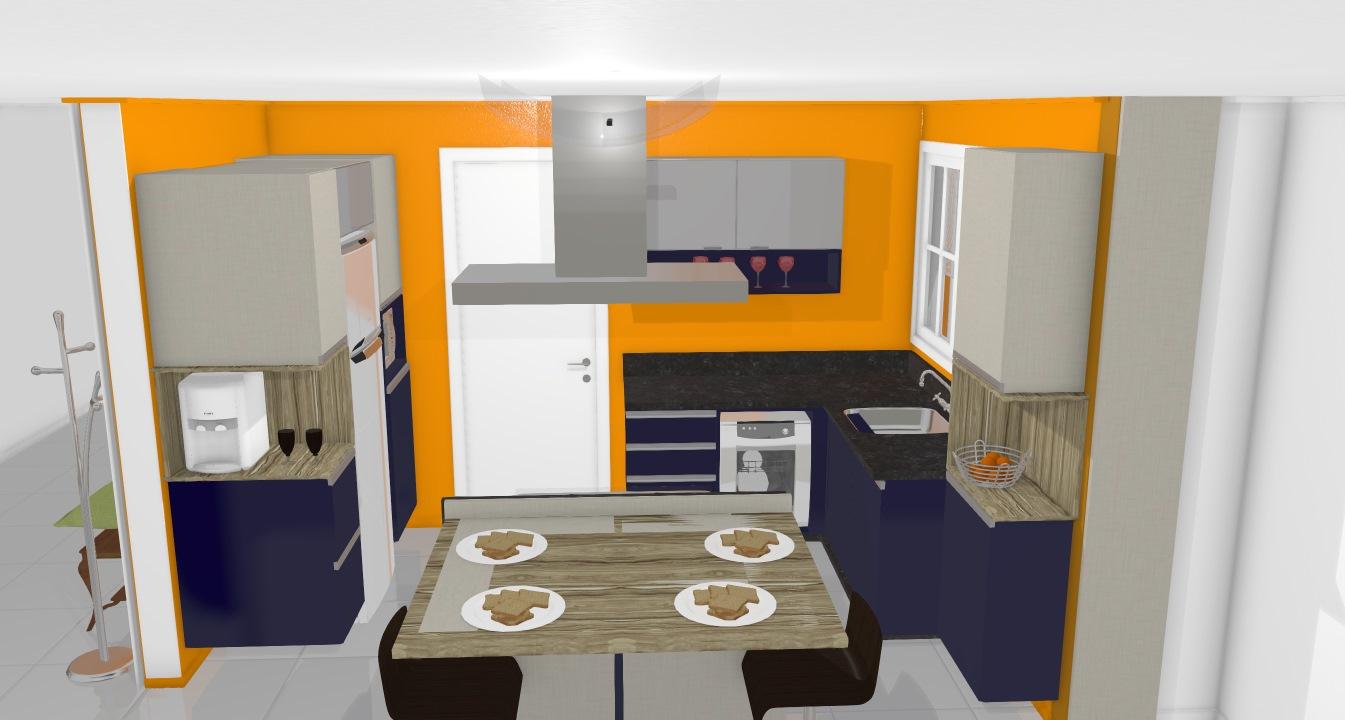 cozinha bella colina 9 azul
