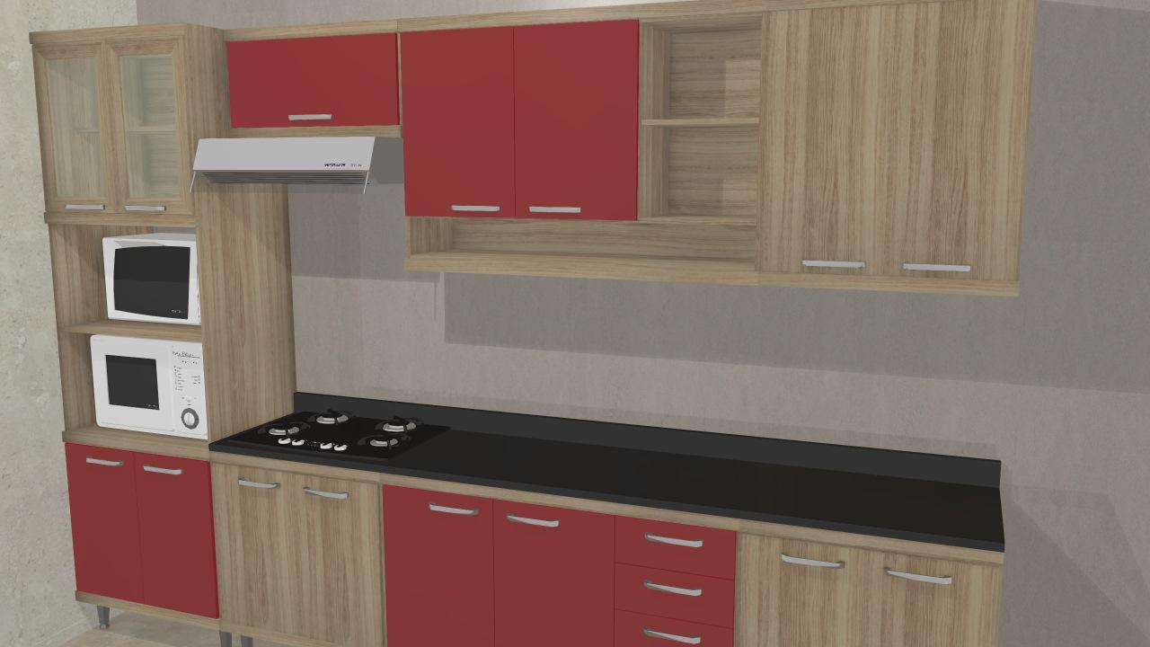 Cozinha Modulada Completa 7 M Dulos Com Paneleiro 4 Portas Espa O