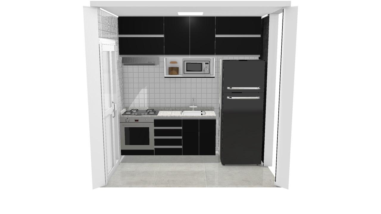 3 Cozinha Planejada De Henrique Planta 3d Mooble Leroy Merlin