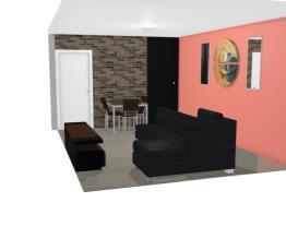 sala com sofa e poltrona