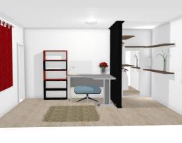 Quarto com espaço closet