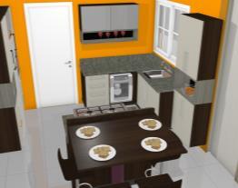 cozinha bella colina 8 caixas canela com london